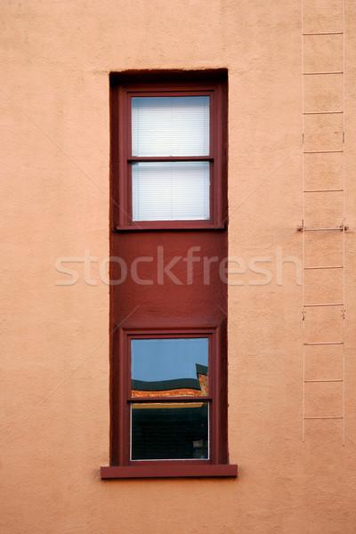 Pencere stil çift cam arka plan Stok fotoğraf © Imagecom