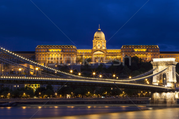 éjszaka lánc híd Budapest kártevő oldal Stock fotó © Imagecom