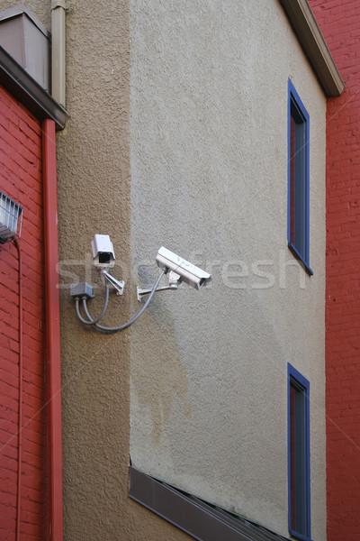 Güvenlik kameralar ev teknoloji kablo video Stok fotoğraf © Imagecom