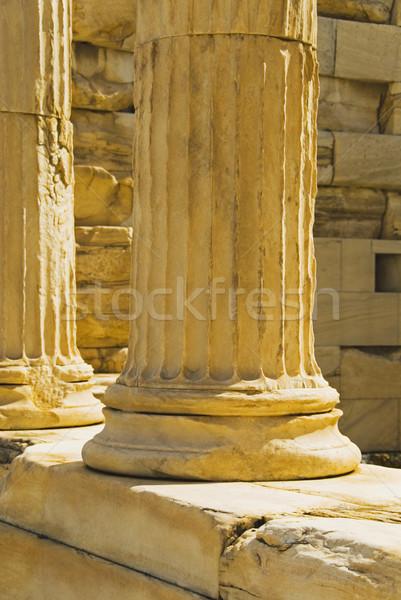 Ruínas Acrópole Atenas Grécia mundo viajar Foto stock © imagedb
