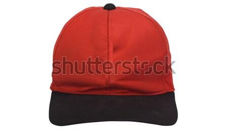 Közelkép baseballsapka sport piros kalap sapka Stock fotó © imagedb