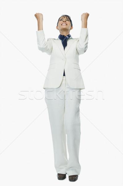Empresária mulher sorrir jovem sucesso branco Foto stock © imagedb