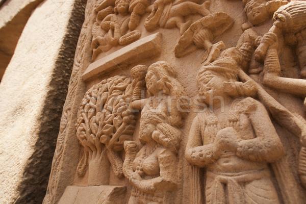 Detay eski sanat mimari heykel din Stok fotoğraf © imagedb