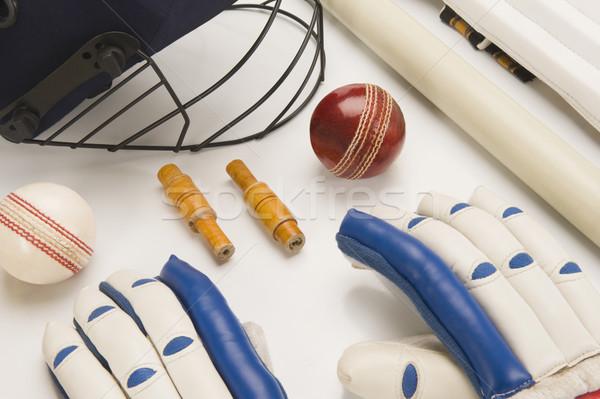 Cricket uitrusting sport groep bal Stockfoto © imagedb