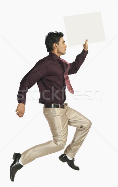 Сток-фото: бизнесмен · работает · бизнеса · человека · реклама · один