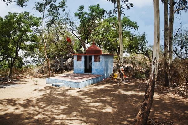 Templo lua de mel ponto distrito árvore rocha Foto stock © imagedb