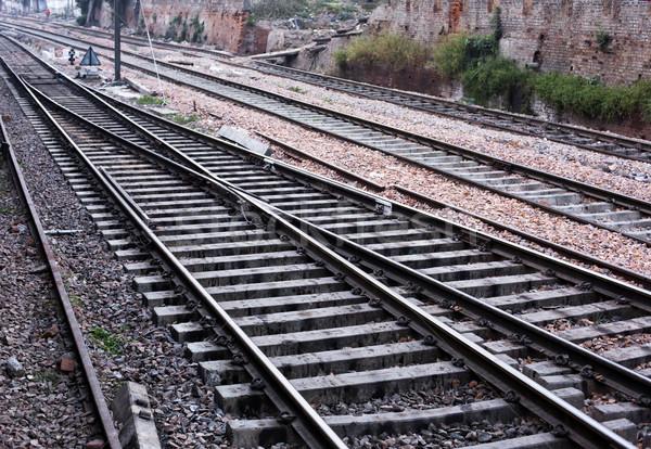 Empty railroad tracks Stock photo © imagedb