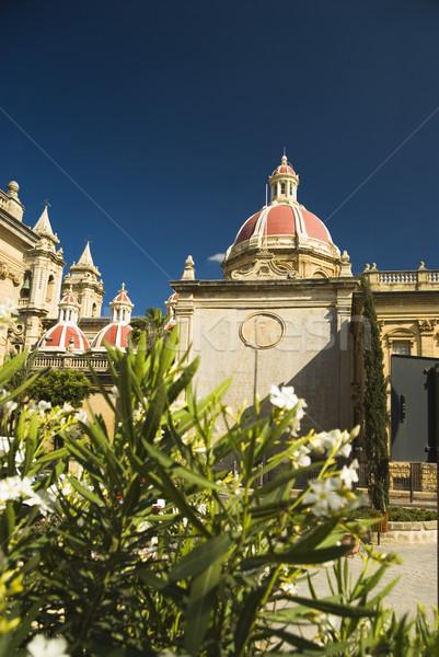 Görmek kilise çiçek mavi seyahat Stok fotoğraf © imagedb