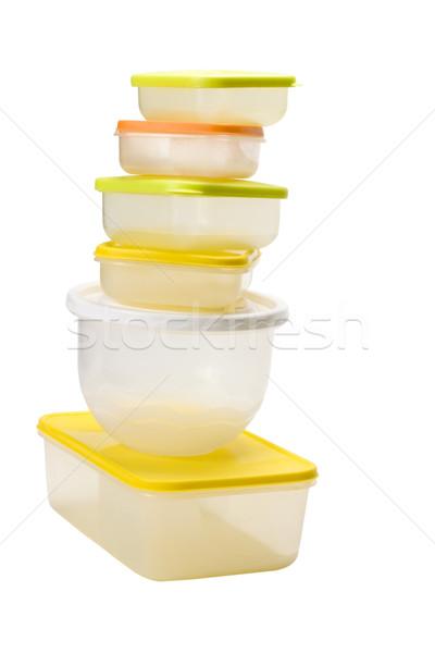 пластиковых группа современных желтый Сток-фото © imagedb