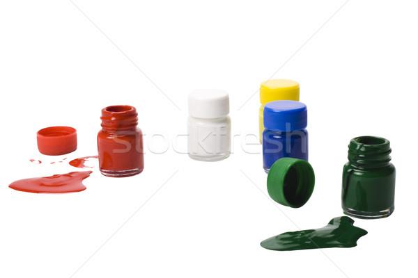 цвета акварель бутылок стекла искусства синий Сток-фото © imagedb