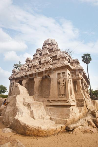 Eski tapınak bölge Hindistan gökyüzü taş Stok fotoğraf © imagedb