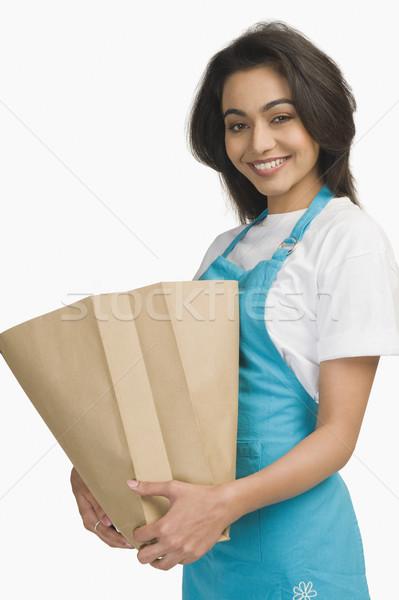 Portret vrouw jonge glimlachend Stockfoto © imagedb