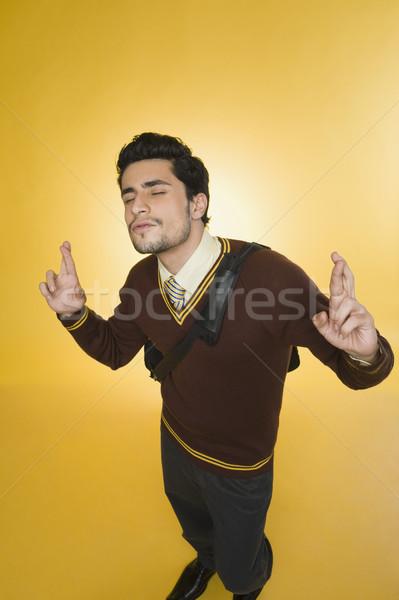 üzletember ujjak üzlet férfi áll fotózás Stock fotó © imagedb