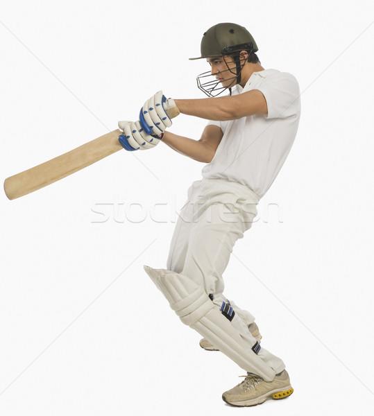 Cricket spelen vierkante gesneden shot man Stockfoto © imagedb