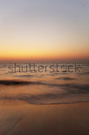 Panorámakép kilátás tenger alkonyat Goa India Stock fotó © imagedb