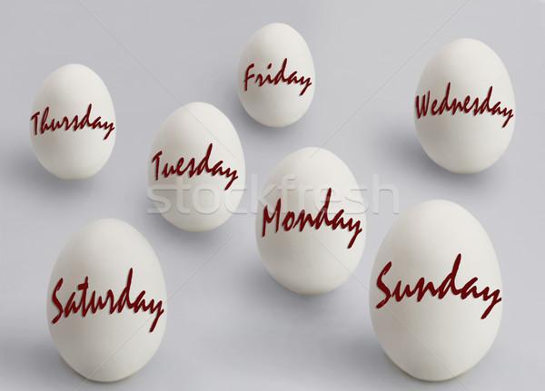 Tojás csoport piros fehér fotózás reggel Stock fotó © imagedb