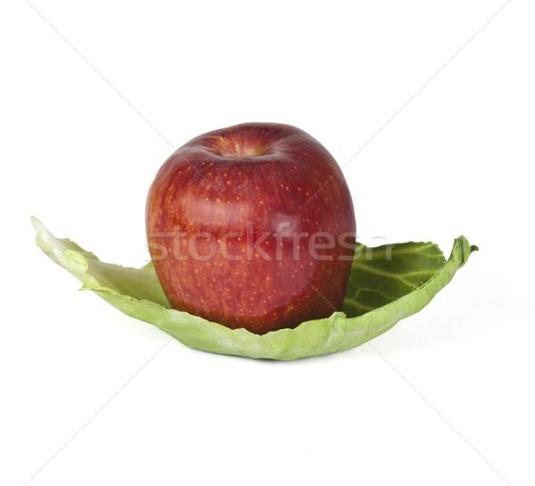 красное яблоко капуста лист яблоко фрукты растительное Сток-фото © imagedb