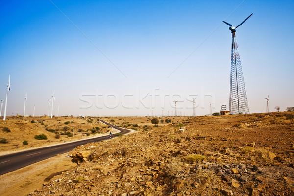 Route désert distance paysage autoroute Photo stock © imagedb