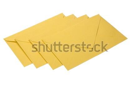 конверт почты письме изолированный горизонтальный Сток-фото © imagedb