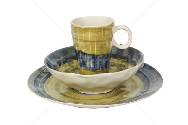 керамической чаши Кубок пластина дизайна Сток-фото © imagedb