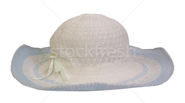クローズアップ 帽子 白 パターン 弓 水平な ストックフォト © imagedb