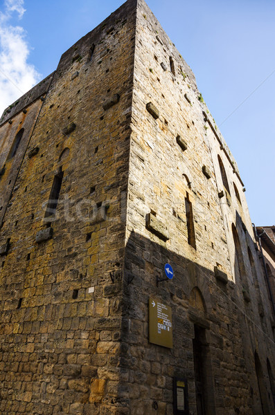 Low angle view of a historical building in a old town Stock photo © imagedb