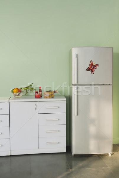 Refrigerador cocina casa tecnología piso lujo Foto stock © imagedb