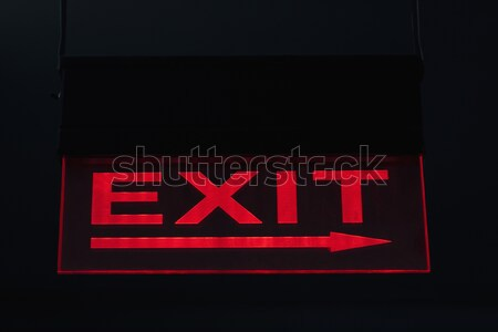 Exit sign Informationen Fotografie Text Richtung Stock foto © imagedb
