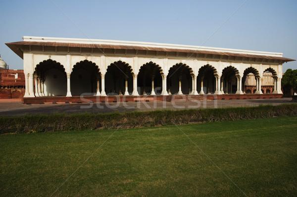 Fort hemel gras architectuur gazon islam Stockfoto © imagedb