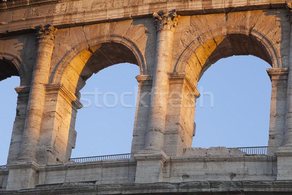 Geschiedenis schaduw boog roma Romeinse buitenshuis Stockfoto © imagedb