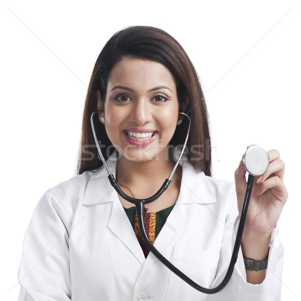 Retrato feminino médico estetoscópio mulher Foto stock © imagedb