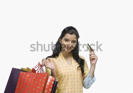 Tarjeta de crédito mujer Foto stock © imagedb