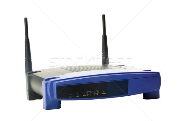Közelkép drótnélküli modem fény technológia antenna Stock fotó © imagedb