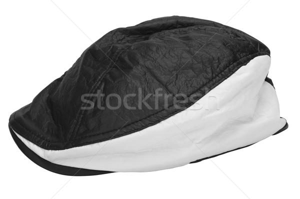 Közelkép divat terv kalap fehér sapka Stock fotó © imagedb