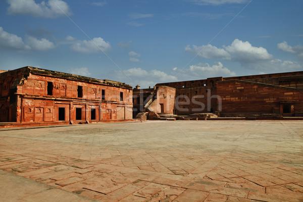 Clouds over Agra Fort, Agra, Uttar Pradesh, India Stock photo © imagedb