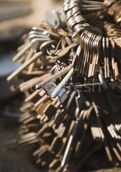 Rouillée touches matériel magasin new delhi Photo stock © imagedb