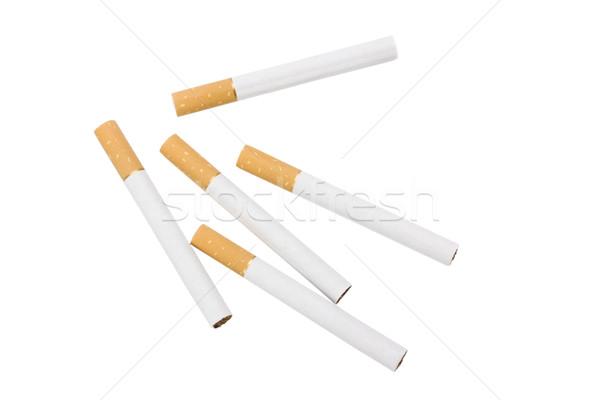 Közelkép cigaretta cigaretta közelkép ötletek stúdiófelvétel Stock fotó © imagedb