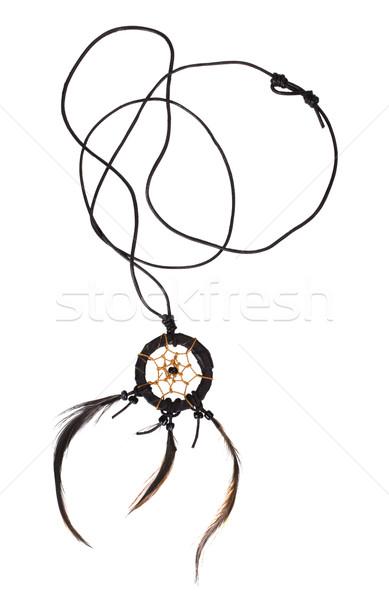 Projektu luksusowe naszyjnik ozdoba białe tło Zdjęcia stock © imagedb