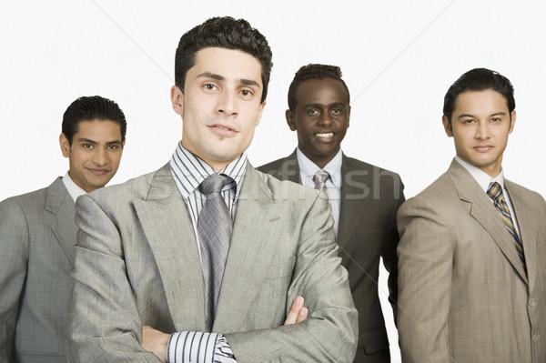 肖像 4 ビジネスマン 立って 一緒に ビジネス ストックフォト © imagedb