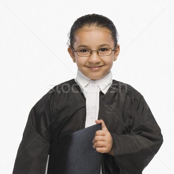 Lány ügyvéd mosolyog igazság ruha bűnözés Stock fotó © imagedb