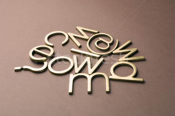 Vraagteken symbool business technologie teken netwerk Stockfoto © imagedb