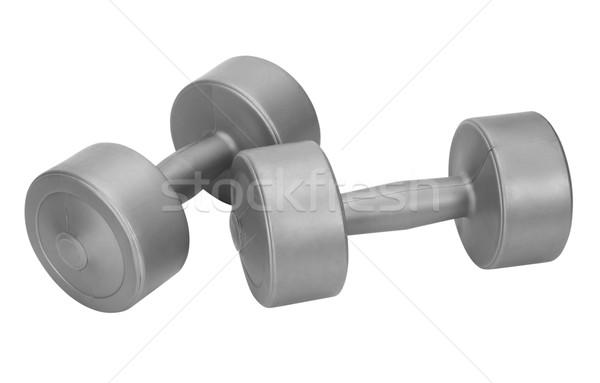 Dambıl uygunluk Metal spor salonu güç Stok fotoğraf © imagedb
