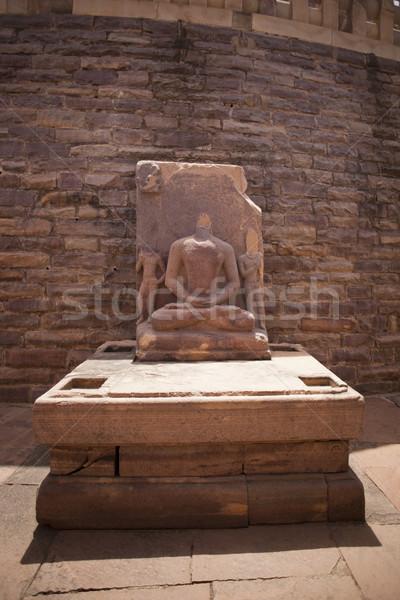 Estátua buda Índia arquitetura história religião Foto stock © imagedb