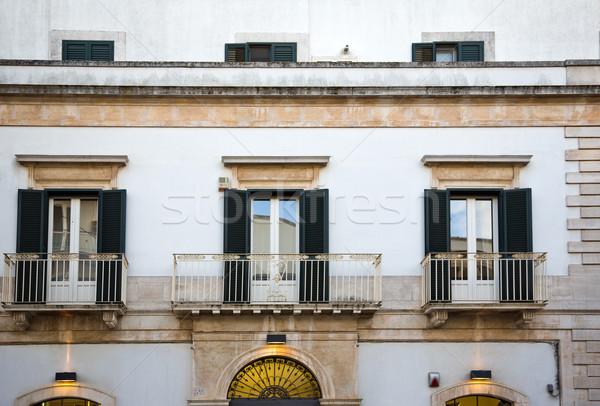 Balconies of a house Stock photo © imagedb