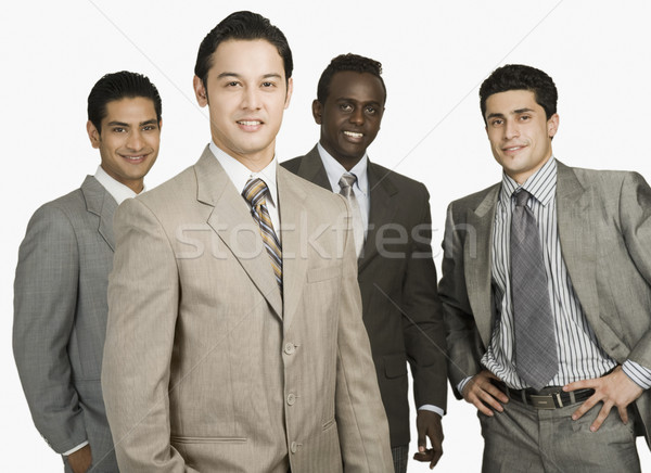 Ritratto quattro imprenditori piedi insieme business Foto d'archivio © imagedb