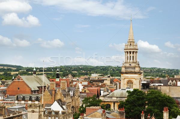 Magasról fotózva kilátás épületek város Oxford Oxfordshire Stock fotó © imagedb