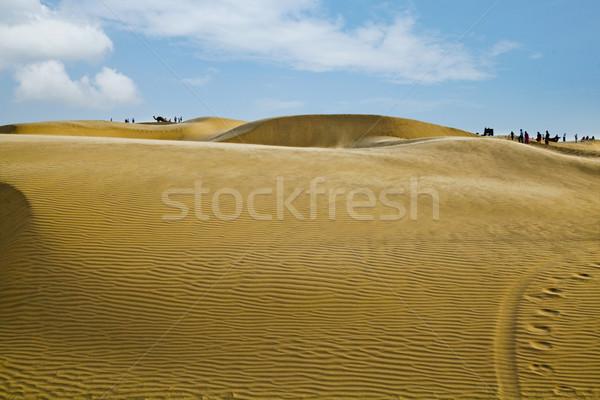 Homok India égbolt tájkép háttér sivatag Stock fotó © imagedb