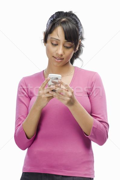 Genç kadın kadın okuma genç güzel Stok fotoğraf © imagedb