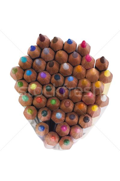 Primer plano lápices madera lápiz arte Foto stock © imagedb