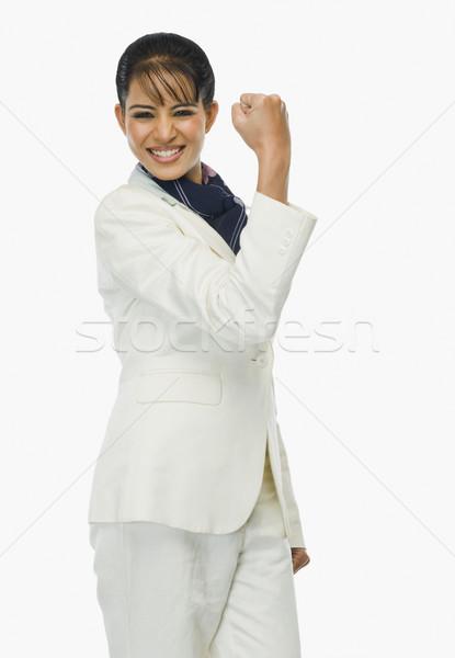 Retrato empresária mulher sorrir jovem sucesso Foto stock © imagedb